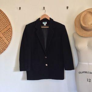 Vintage Black Wool Coat